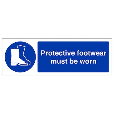 Protective Footwear Must Be Worn - Landscape