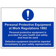 PPE Work Regulations 1992 Must Be Used