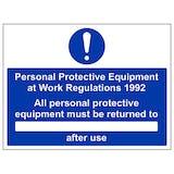 PPE Work Regulations 1992 Returned To