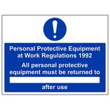 PPE Work Regulations 1992 Returned To