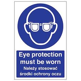 English/Polish - Eye Protection Must Be Worn