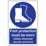 English/Polish - Foot Protection Must Be Worn