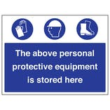 Personal Protective Equipment Is Stored Here