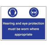 Hearing / Eye Protection Must Be Worn