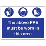 The Above PPE Must Be Worn