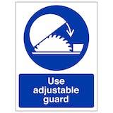 Use Adjustable Guard - Portrait
