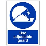 Use Adjustable Guard - Portrait