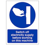 Switch Off Electricity Supply - Portrait