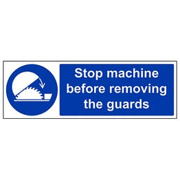 Stop Machine Before Removing Guards - Landscape