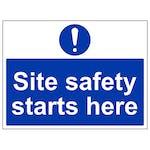 Site Safety Starts Here - Large Landscape