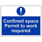 Confined Space Permit To Work Required - Large Landscape