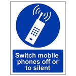 Switch Mobile Phone Off Or To Silent - Portrait