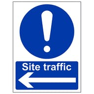 Site Traffic  Arrow Left - Portrait