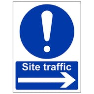 Site Traffic  Arrow Right - Portrait