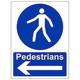 Eco-Friendly Pedestrians Arrow Left