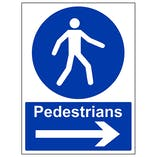 Pedestrians - Arrow Right