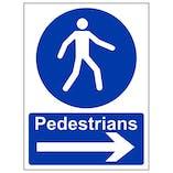 Eco-Friendly Pedestrians Arrow Right