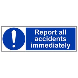 Report All Accidents Immediately - Landscape
