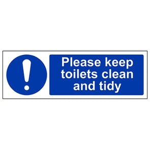 Please Keep These Toilets Clean And Tidy