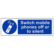 Switch Mobile Phone Off Or To Silent - Landscape