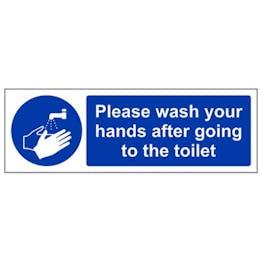 Eco-Friendly Please Wash Your Hands After - Landscape