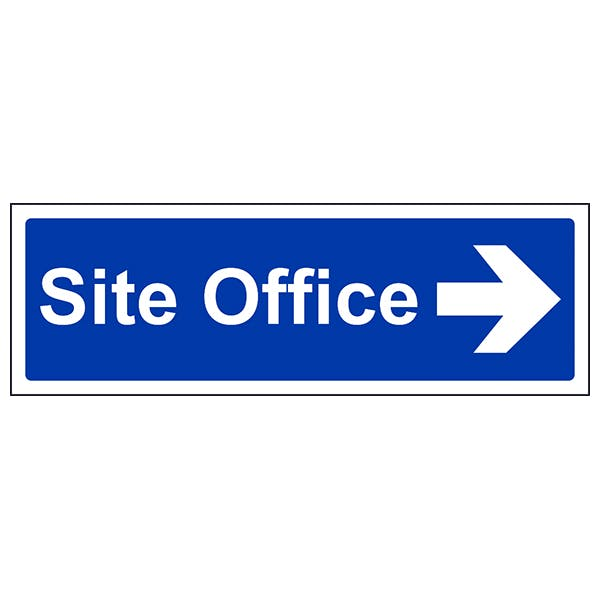 Site Office With Arrow Right