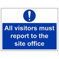 Visitors Report To Site Office  - Large Landscape