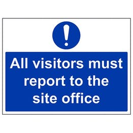 Eco-Friendly Visitors Report To Site Office - Large Landscape