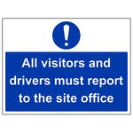 Visitors And Drivers Report To Site Office