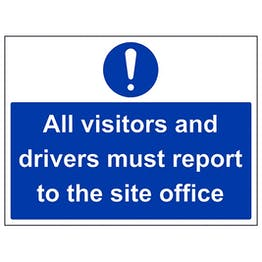 Eco-Friendly Visitors And Drivers Report To Site Office