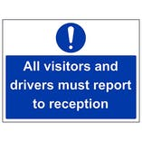 Eco-Friendly All Visitor And Driver Must Report To Reception