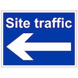 Site Traffic Arrow Left - Large Landscape