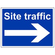 Site Traffic Arrow Right - Large Landscape