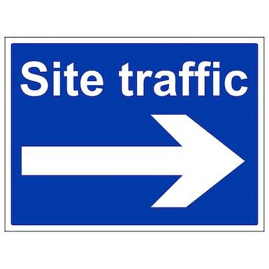 Site Traffic Arrow Right - Large Landscape