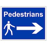 Pedestrians - Arrow Right - Large Landscape