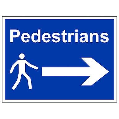 Pedestrians - Arrow Right - Large Landscape