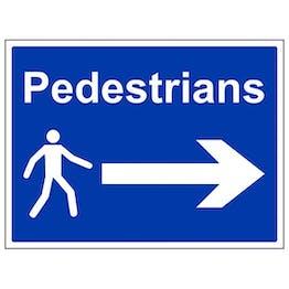 Eco-Friendly Pedestrians - Arrow Right - Large Landscape