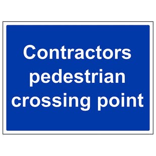 Contractors Pedestrian Crossing Point