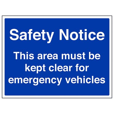 This Area Must Be Kept Clear - Large Landscape