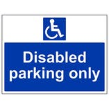 Eco-Friendly Disabled Parking Only