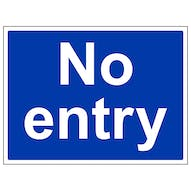 Mandatory No Entry - Large Landscape