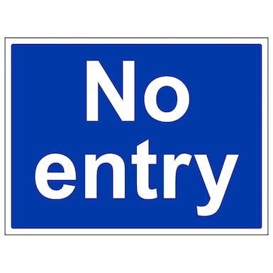 Mandatory No Entry - Large Landscape
