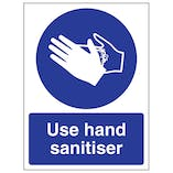 Use Hand Sanitiser - Portrait