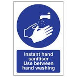 Instant Hand Sanitiser Use - Portrait