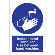 Instant Hand Sanitiser Use Between Washing