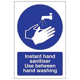 Instant Hand Sanitiser Use - Portrait