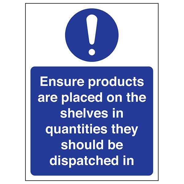 Ensure Products Are Placed On The Shelves