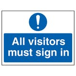 All Visitors Must Sign In - Landscape