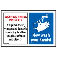Washing Hands Properly Will Prevent...