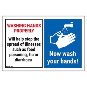 Washing Hands Properly Will Help... Now Wash Your Hands!